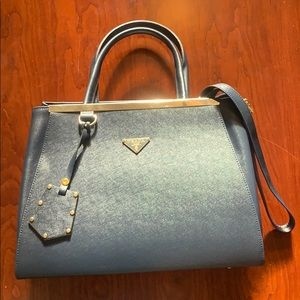 Prada Galleria Navy Tote Handbag